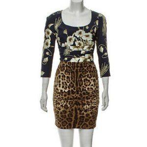DOLCE & GABBANA Floral Animal Leopard Print Mini 4
